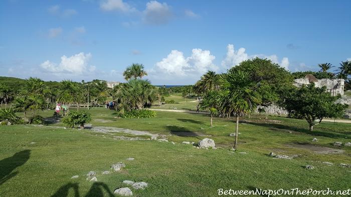 View of Ocean at Mayan Ruins, Tulum