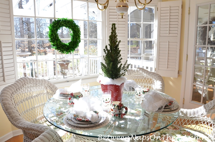 Winter Tablescape on a Sunny Winter Day