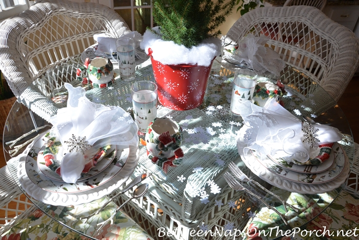 Winter Tablescape with David Carter Brown Christmas Valley