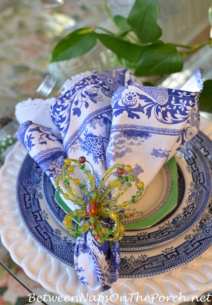 Blue and White Tablescape for Summer