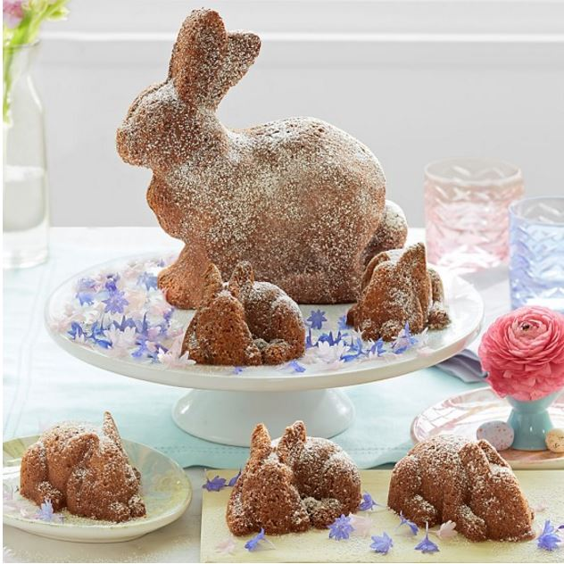 Bunny Made with Nordic Ware Bunny Pan