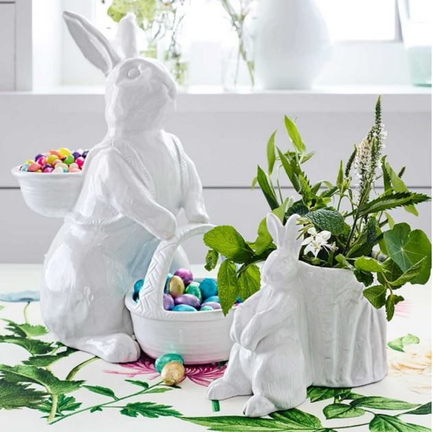 Bunny with Two Baskets