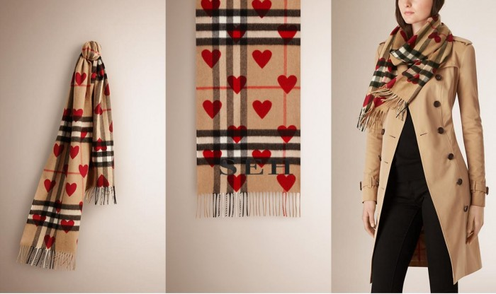 Burberry Red Heart Scarf