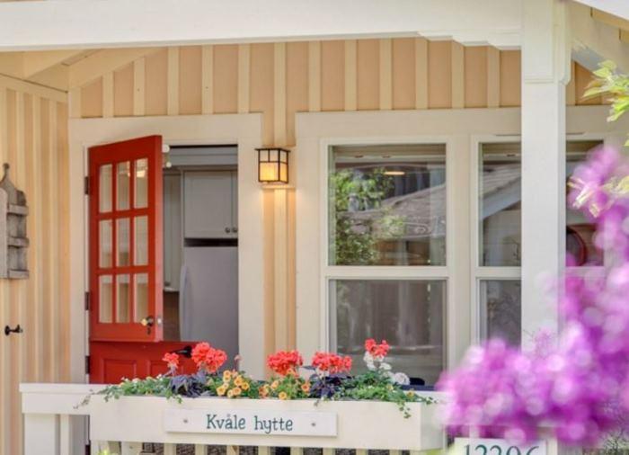 Cottage with Red Dutch Door