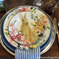 Floral Bunny  Plate, Pottery Barn