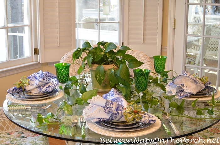 Green and Blue Table for Spring