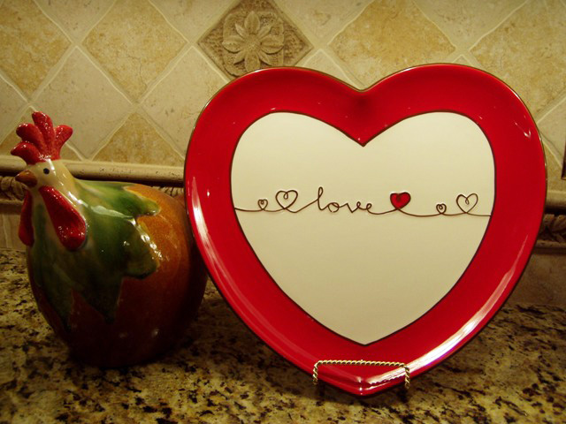 Heart-Shaped Plate for Valentine's Day