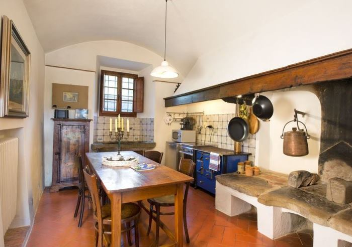 Kitchen in Michelangelo's Historic Tuscan Home
