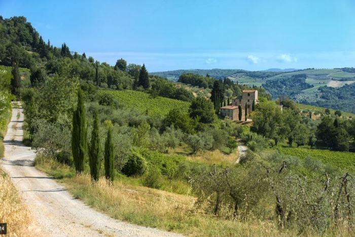Michelangelo's Villa in Tuscany Italy