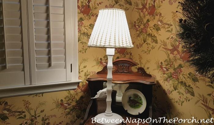 Outdoor Wicker Lamp, Bright