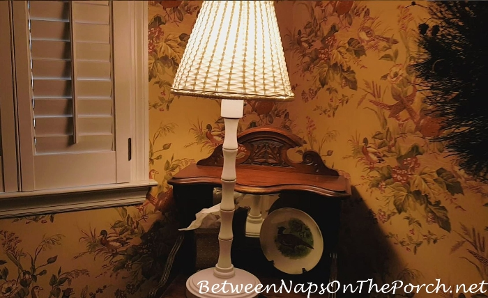 Outdoor Wicker Lamp, Dim When First Turned On