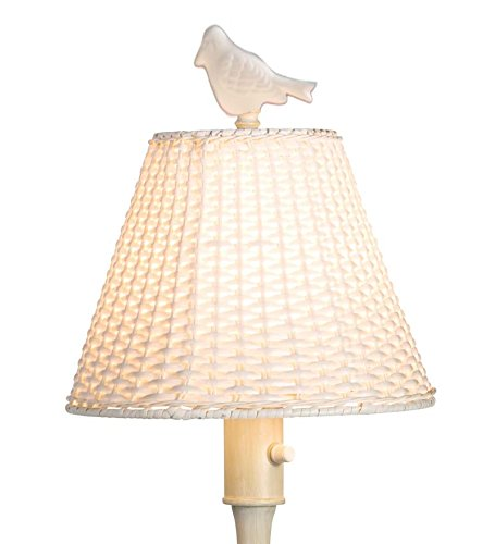 Outdoor Wicker Style Floor Lamp