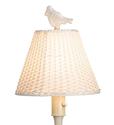 Outdoor Wicker Style Floor Lamp
