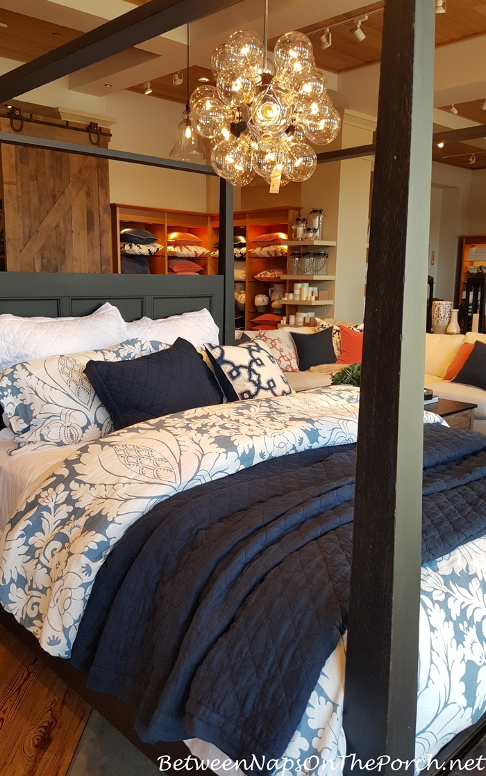 Pottery Barn Bedding in Blue and White