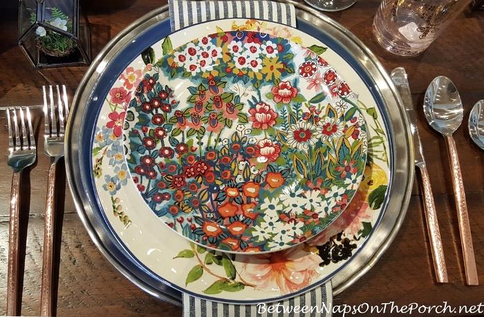 Pottery Barn Spring Blossom Salad Plates
