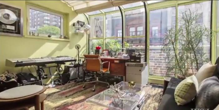 Rachael Ray's New York Apartment Office and Music Room
