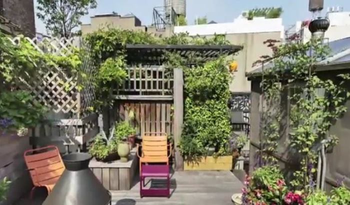 Rachael Ray's New York Apartment Patio Garden Tour