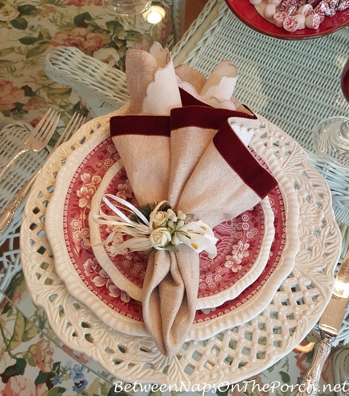 Valentine's Day Table Setting with Spode Tower