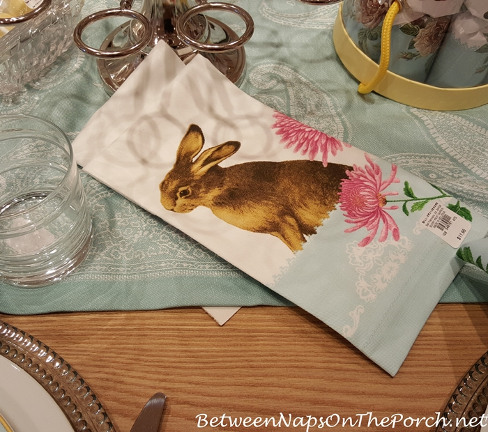 Williams-Sonoma Garden Bunny Napkins
