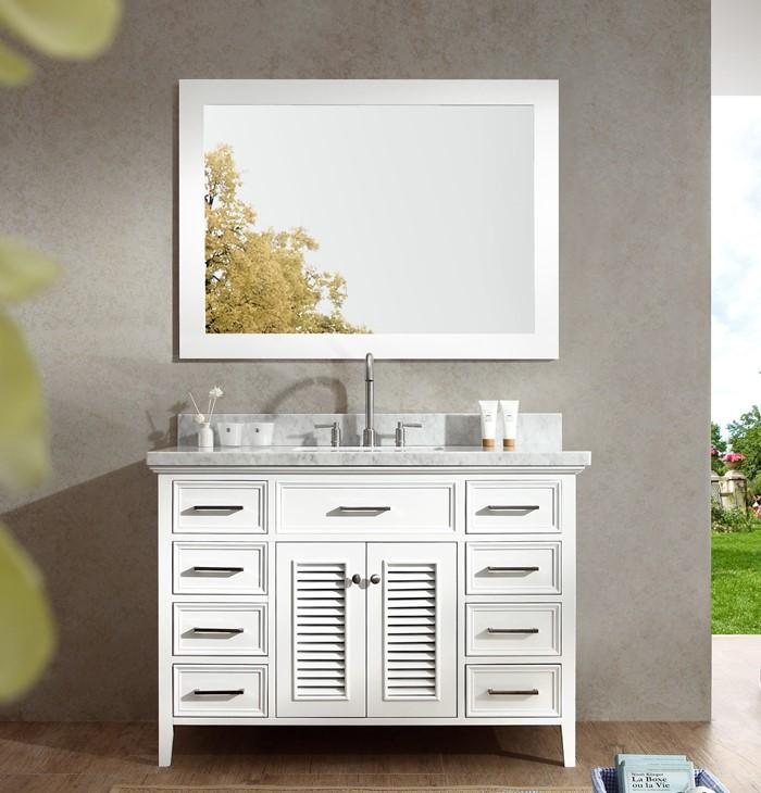 Simple  inch White Vanity Kensington