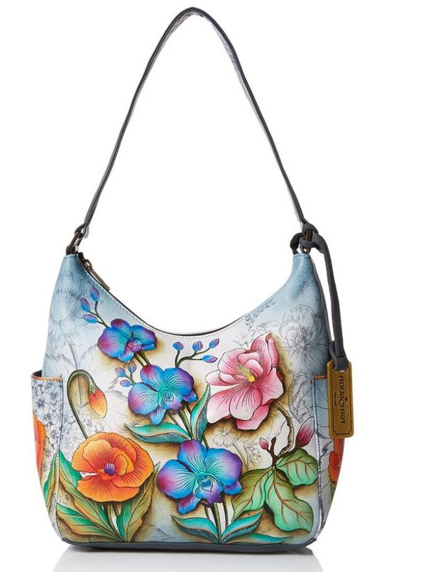 Anuschka Hand-painted Hobo Bag