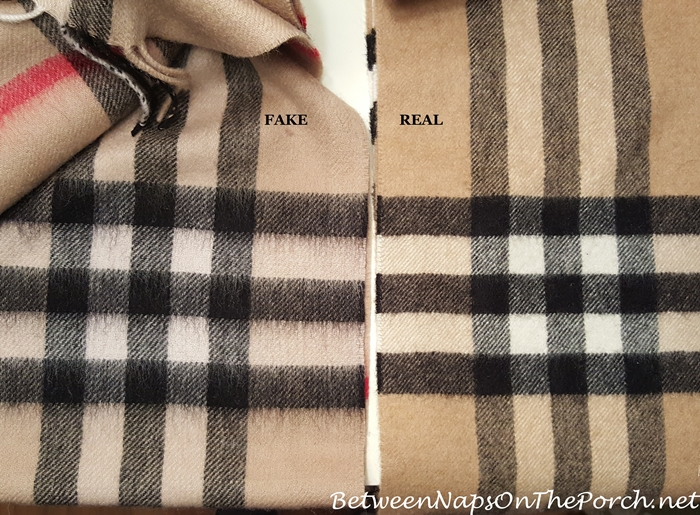 Authentic Burberry Cashmere Scarf vs Fake Burberry Scarf