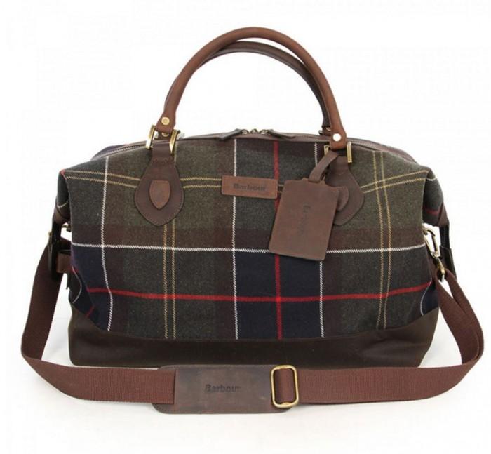 Barbour Tartan Plaid Weekender Explorer Bag