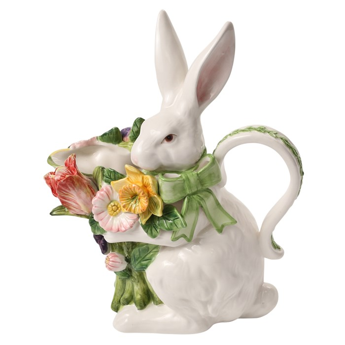 Bunny Pitcher with Flowers