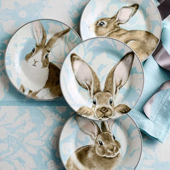 Bunny Plates for Spring and Easter
