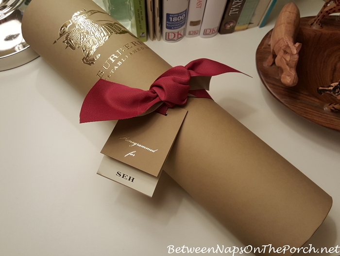 Burberry Scarf Beautifully Packaged for Delivery