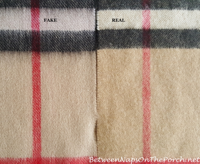 Burberry Scarf, How To Spoit a Fake