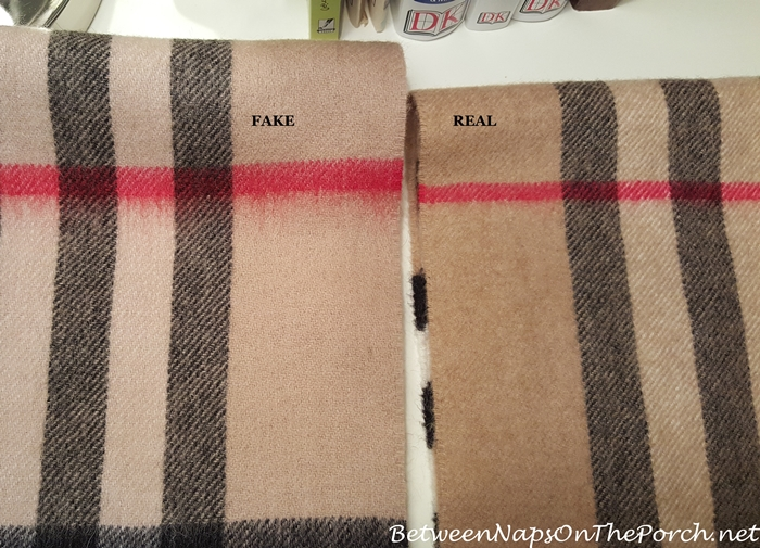Burberry Scarf, Real vs Fake