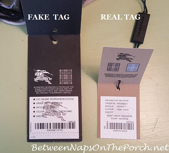 Burberry Scarf, Which is Fake & Which is Real