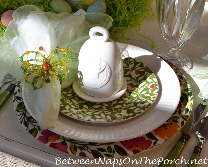 Butterfly Napkin Rings for Spring Tablescape