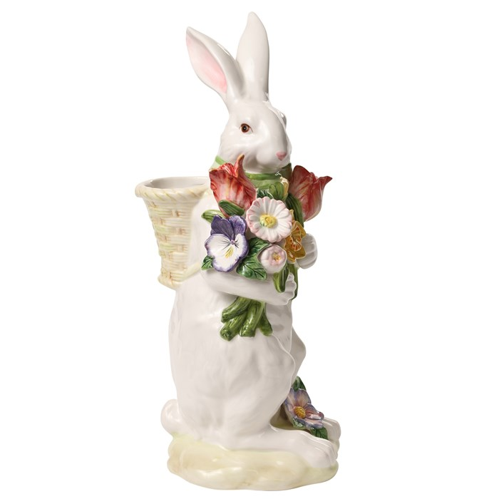 Ceramic Bunny With Basket for Spring