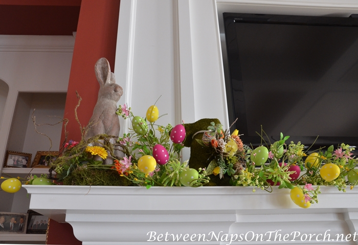 Decorate Mantel for Easter