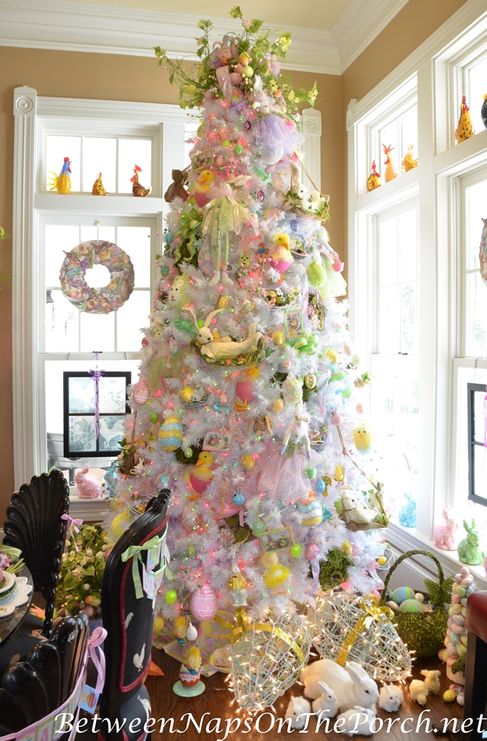 Christmas Trees Decorated With Flowers