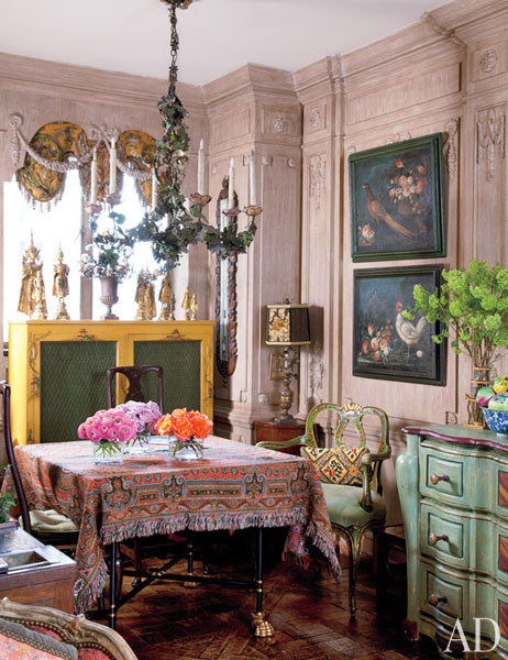 Designer Iris Apfel's Dining Room, New York Apartment