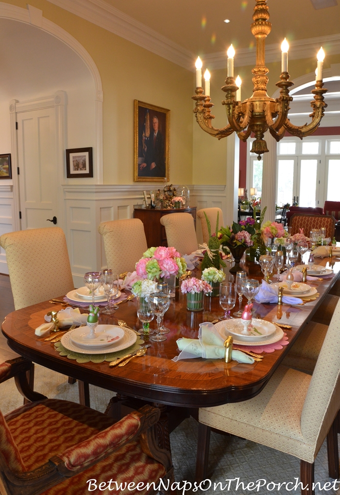 Marie s beautiful spring easter table setting for How to set a beautiful dinner table
