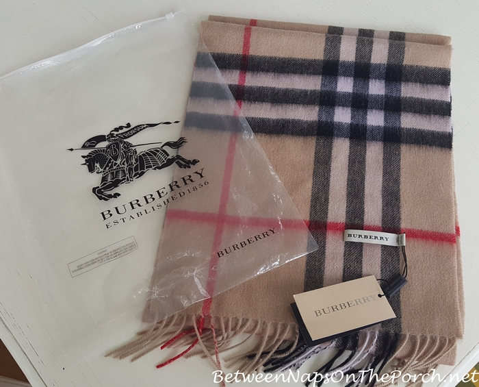 Fake Burberry Scarf in Heritage Check