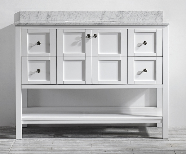48-Inch, White, Free-Standing Vanities For A Bath Renovation