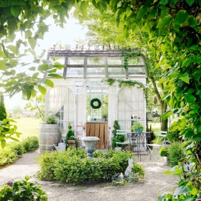 Glass Greenhouse From Old Windows for Dream Garden