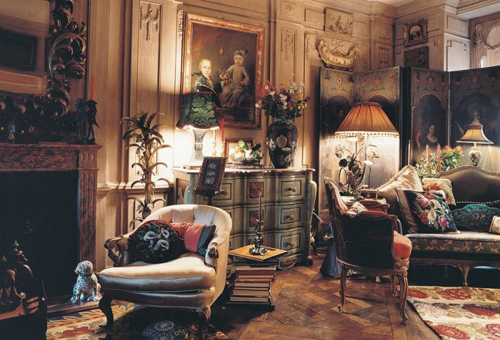 Iris Apfel's Exquisite Living Room, New York