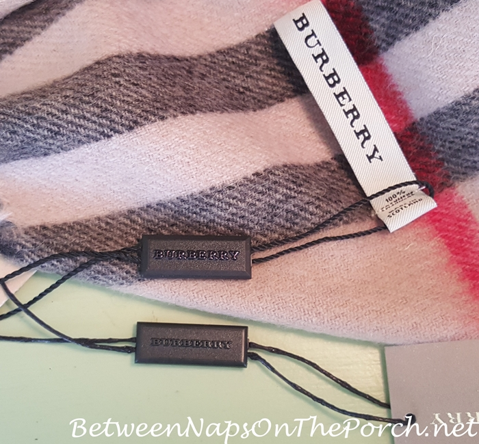 Real Burberry Scarf vs A Fake Burberry Scarf