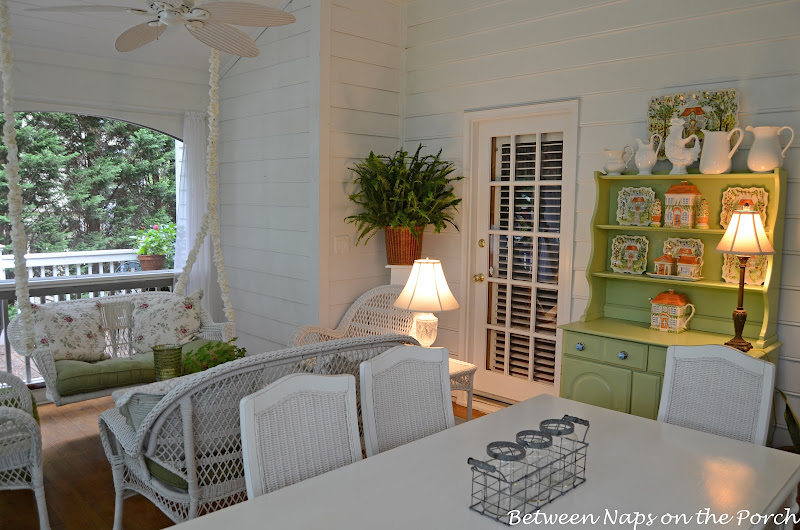 Screened Porch with Kimberly Queen Fern