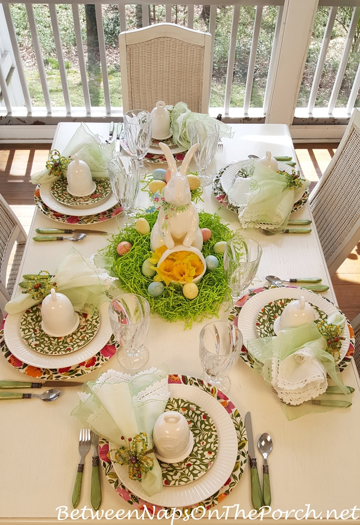 Spode Emma's Garland in Spring Easter Tablescape