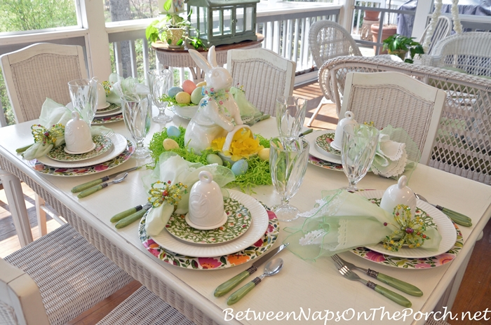 Spring Table Setting, Spode Emma's Garland