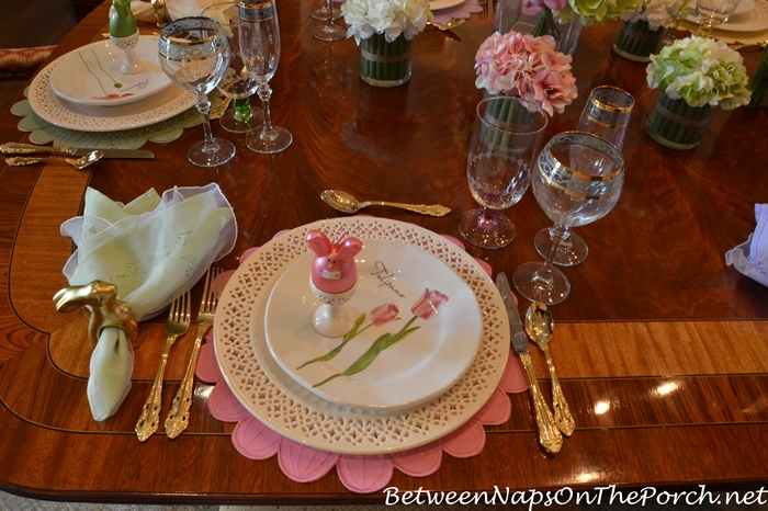 Spring Table with Pierced Chargers