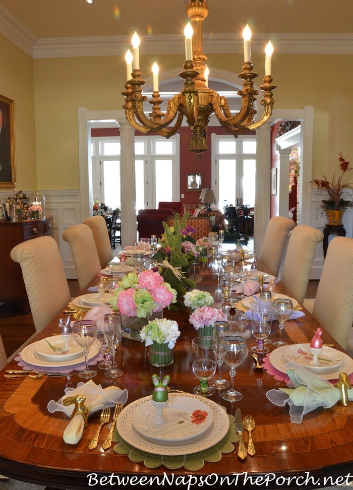 Marie S Beautiful Spring Easter Table Setting