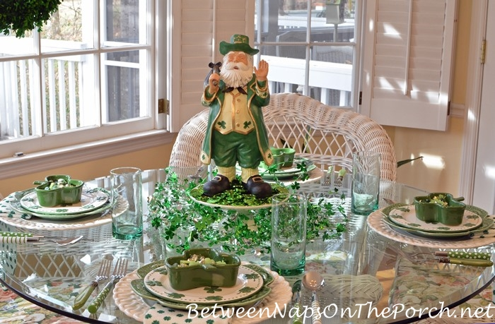 St. Patrick's Day Table Setting, Table Scape